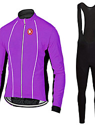 KEIYUEM®Spring/Summer/Autumn Long Sleeve Cycling Jersey+long Bib Tights Ropa Ciclismo Cycling Clothing Suits #L64