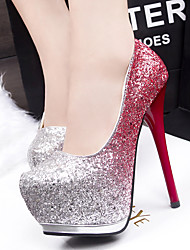 Women's Heels Spring / Fall Heels / Round Toe Glitter Dress Stiletto Heel Sequin Blue / Purple / Red Others