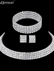 Schmuck Halsketten / Ohrringe / Armband Braut-Schmuck-Sets Modisch / Inspirationen Hochzeit / Party / Alltag / Normal 1 Set Damen Silber