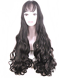 70cm Soft Degre Hair Sexy Fashion Long Wave Lady's Synthetic Hair Wig Full Fashion Cosplay Wig Gift
