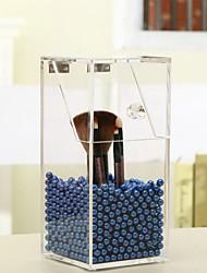 cristal maquillage acrylique stockage brosse boîte cas organisateur avec des perles perles cas cosmétique porte-boîte de rouge à lèvres
