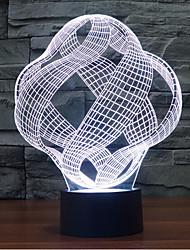 abstrakt Touch Dimm 3D LED-Nachtlicht 7colorful Dekoration Atmosphäre Lampe Neuheit Beleuchtung Weihnachtslicht