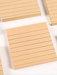 Simple Color Kraft Paper Post-it Notes