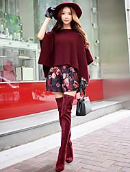 florais calções calças dabuwawa mulheres, vintage / street chique / sofisticado
