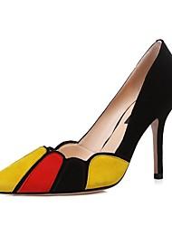 Damen-High Heels-Hochzeit / Büro / Kleid / Lässig / Party & Festivität-Leder-Stöckelabsatz-Absätze / Fersenriemen / Pumps / Stile /