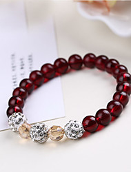 Strand Bracelets 1pc,Red / Blue Bracelet Fashionable Circle 514 Crystal Jewellery