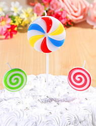 Party Decoration Happybirthday Birthday Candles Set (3 Pieces) lollipops