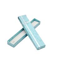 семь синих коробок ожерелье упаковки в упаковке