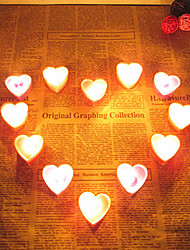 Resina Decorações do casamento-8Peça/Conjunto Ornamentos Dia Dos Namorados / Aniversário de Casamento / Casamento Tema rústicoVermelho /