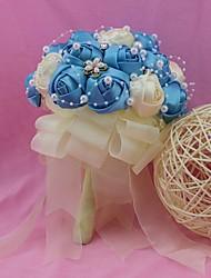 """Fleurs de mariage Rond Roses Bouquets Mariage Polyester 7.87""""(Env.20cm)"""