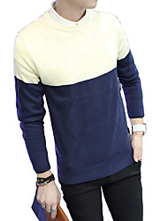 The new Korean men's sweaters in autumn and winter sweater cotton Turtleneck Shirt Collar youth slim men sweater