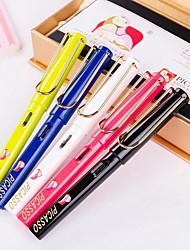 ming tsim / dunkel spitzen Silberclip Stift 3 Tintenbeutel transparente Box