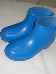 Unisex Boots Spring Summer Fall Winter Rain Boots PVC Outdoor Low Heel Others Blue Other