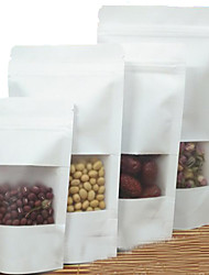 Matte Matte White Window Kraft Standing Ziplock Food Packaging Bags Of High-Grade Nuts To Order A Pack Of Ten Printing