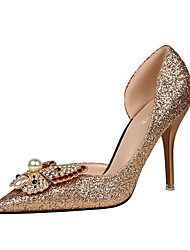 Women's Sandals / Fall / Winter Heels Glitter Casual Stiletto HeelRhinestone / Crystal / Feather / Bowknot / Applique /