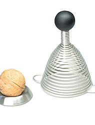 Stainless Steel Walnut Cracker Spring Nut Sheller Machine Elastic Ball Nuts Hammer Range Opener Tool (Random Color)