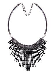 Collier Pendentif de collier Bijoux Noir Alliage Soirée 1pc Cadeau