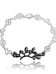 2016 Leaf 925 Sterling Silver Black Luxury Specially Bracelets For Women