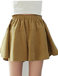Women's Solid Red / Black / Yellow Skirts,Cute Mini