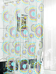 Classic Modern Floral  Thick Waterproof PEVA Shower Curtain Bathroom Curtain With Hooks