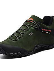 Черный / Зеленый / Хаки-Мужской-Для прогулок / Для занятий спортом-Замша-На плоской подошве-Удобная обувь-Спортивная обувь