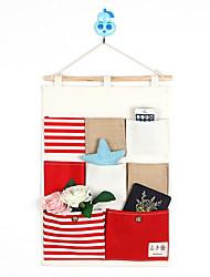 Eight Pockets Behind The Door Navy style Storage Bag