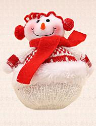 1pc christmas tree décoration foulard rouge fournitures bonhomme de neige pendant le dîner de vacances de fête
