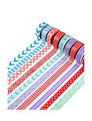 10pçs Fita adesiva colorida