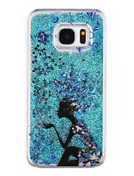 Genius Pattern Flowing Quicksand Liquid Glitter Plastic PC For Samsung Galaxy S7 edge Galaxy S7