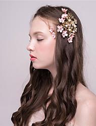 MISS DIVA   Women's Imitation Pearl Headpiece  Hair Clip 1 Piece Pink Flower 58