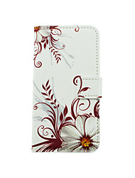 Flower Pattern PU Leather Full Body Case with Stand and Card Slot for LG K10/K8