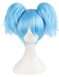 Cosplay Perücken Assassination Klassenzimmer Cosplay Blau / Grün Kurz Anime Cosplay Perücken 25 CM Kunstfaser Frau