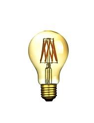 6W E26/E27 Lampadine LED a incandescenza A50 6 COB 300-500 lm Bianco caldo Intensità regolabile / Decorativo AC 220-240 V 1 pezzo