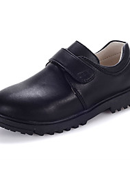 Women's Loafers & Slip-Ons Spring / Fall Round Toe / Flats Cowhide Casual Flat Heel Others / Hook & Loop Bl