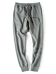 Men's Solid Casual / Sport / Plus Size SweatpantsCotton / Polyester Black / Blue / Brown / Red / Gray