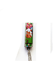 pequena miniatura colar de gaita harmônica personalidade encantadora