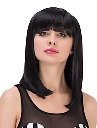 Black Straight Hair Long Heat Resistant Cosplay Synthetic Wigs
