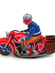 The Motorcycle Wind-up Toy Leisure Hobby Metal Red For Kids