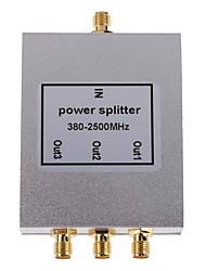 3-Way SMA-Type Power Divider Splitter 380-2500MHz for Mobile Phone Signal Booster Repeater