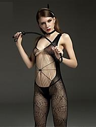 SKLV Women Nylon Cut Out Sheer Chemises Lingerie/Ultra Sexy/Teddy Spider Web Nightwear