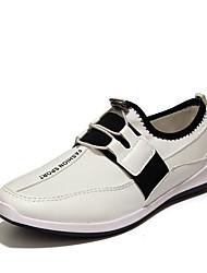 Femme-Décontracté-Noir / Bleu / Blanc-Talon Plat-Confort-Sneakers-Polyuréthane