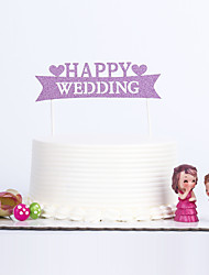 1 PC Cake Toppers MultiColor Happy Wedding
