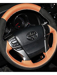 Hand-Stitched Leather Steering Wheel Cover To Cover Car Nontoxic, Odorless Sweat Slip Feel Comfortable