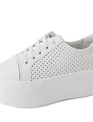 Homme-Extérieure-Noir / Blanc-Plateforme-Creepers-Sneakers-Similicuir