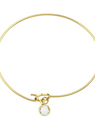 Gold Silver Plated Thin Metal Bracelets Bangles