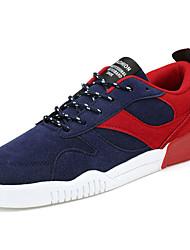 Femme-Décontracté-Noir / Bleu / Rouge-Talon Plat-Confort-Sneakers-Synthétique