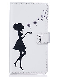 PU Leather Material Black Girl Pattern Phone Case for Huawei P9 Lite/P9/P8 Lite