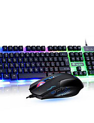 Backlights Slim Wired USB Keyboard & Mouse 2 Pieces a Set