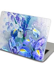 MacBook Front Decal Laptop Sticker Blue Floral For MacBook Pro 13 15 17, MacBook Air 11 13, MacBook Retina 13 15 12