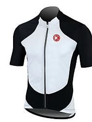 KEIYUEM Cyklodres Unisex Krátké rukávy Jezdit na kole DresRychleschnoucí Odolný vůči UV záření Přední zip Antistatický Prodyšné Pohodlné